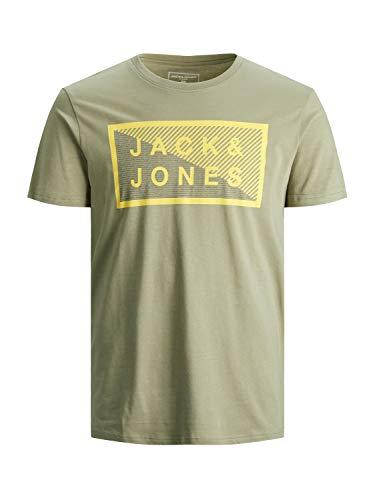 JACK & JONES Herren JCOSHAWN Tee SS Crew Neck NOOS T-Shirt, Oil Green/Fit:Slim, XXL