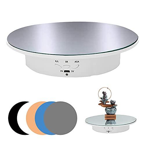 Mesa giratoria eléctrica giratoria para fotografía, 90/180 grados motorizada giratoria mesa de...