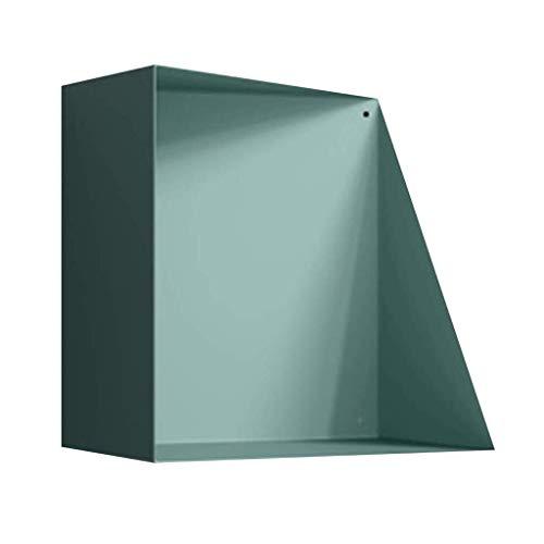 Estante de la pared HLR Baldas flotantes Mini Estantería de Yeso for Sala de Estar, Nordic Estilo Cubo de estanterías estantes flotantes (Color : Blue)