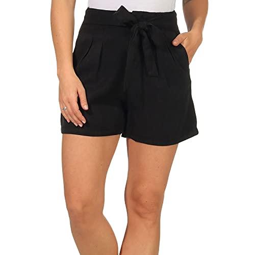 Vero Moda Vmmia HR Loose Summer Shorts Ga Noos Pantalones Cortos, Negro, XL para Mujer