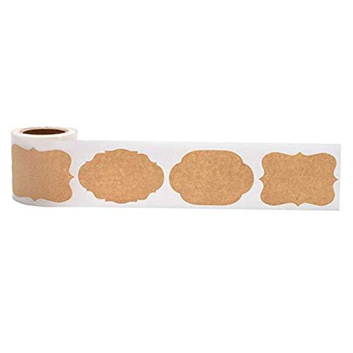 Rongzou Stickers 300 stks Mason Potje Glazen Fles Etiketten Blank Kraft Sealing voor Cake Bakken Verpakking Kerstmis Gift Tag DIY
