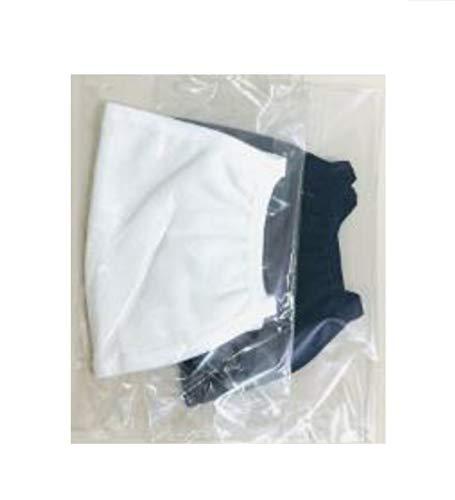 2x Kinder Stoffmaske hochwertige Mund-Nasen-Maske aus Baumwolle waschbar - Masken in schwarz + weiß