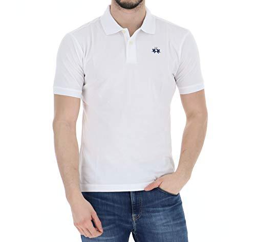 La Martina - Polo para hombre, color blanco