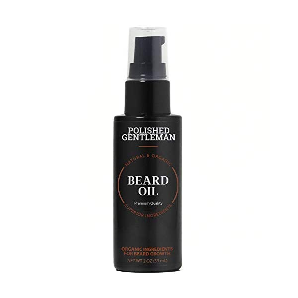 Natural Beard Growth Oil for Men - with Cedarwood & Tea Tree Oil - Easy Beard Dispenser and Pump - Natural Conditioner… 1