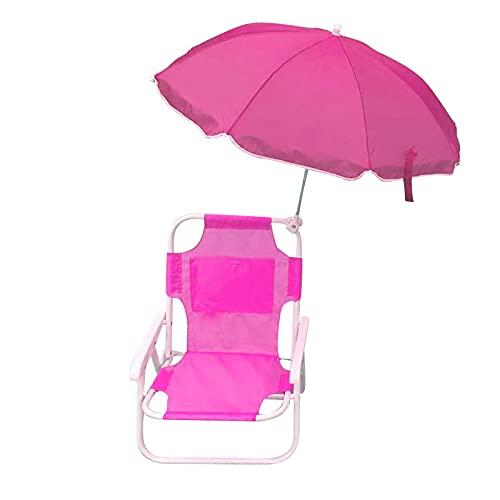 DDH Beach Baby Children's Camping Chair, Umbrella Chair, Outdoor Leisure Chair-Green