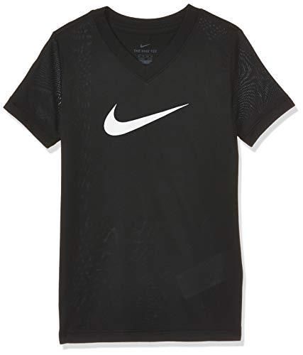 Nike G NK Dry Tee Leg Vneck Swoosh T-Shirt à Manches Courtes Femme, Noir, FR : S (Taille Fabricant : S)