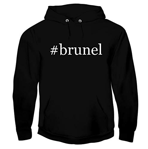 #brunel - Men's Soft Graphic Hoodie Sweatshirt, Black, Large