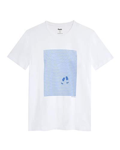 Brava Fabrics - Camiseta Hombre - Camiseta para Hombre - 100% Algodón Orgánico - Modelo Walkaway