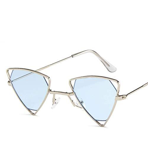 Astemdhj Gafas de Sol Sunglasses Gafas De Sol Triangulares para Mujer Diseño Vintage Marca De Coche De Lujo Lente Roja Gafas De Sol Sombras para Mujer Moda Retro AAnti-UV
