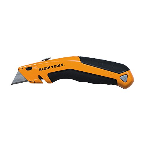 Heavy Duty Utility Knife, Retractable, Adjustable, with Wire Stripper, Klein-Kurve Handle Klein Tools 44133
