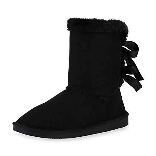 SCARPE VITA Dames Laarzen Slip Enkellaarzen Warm Gevoerde Laarzen Comfortabel Suede-Look Schoenen Winter Laarzen Instaplaarzen