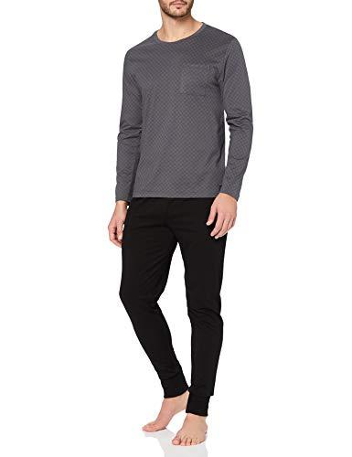 ESPRIT Herren XANNDER NW OCS Pyjama Shortsleeve Pyjamaset, 001/BLACK, S
