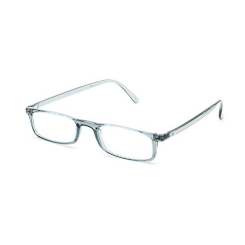 Nannini Quick 7.9 Italian Made Reading Glasses | 7.9 grams Featherweight & Extremely Durable Frame (Grey, +1.50)