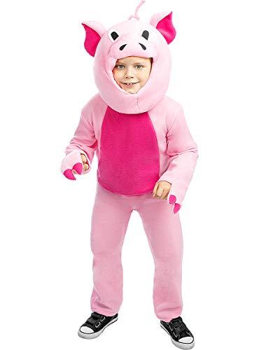 Funidelia   Disfraz de Cerdo para niño y niña Talla 5-6 años ▶ Animales - Color: Rosa - Divertidos Disfraces y complementos para Carnaval y Halloween