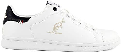 Australian Scarpe Uomo Sportive Sneaker Basse Art. AU436 (43, off White/Navy)