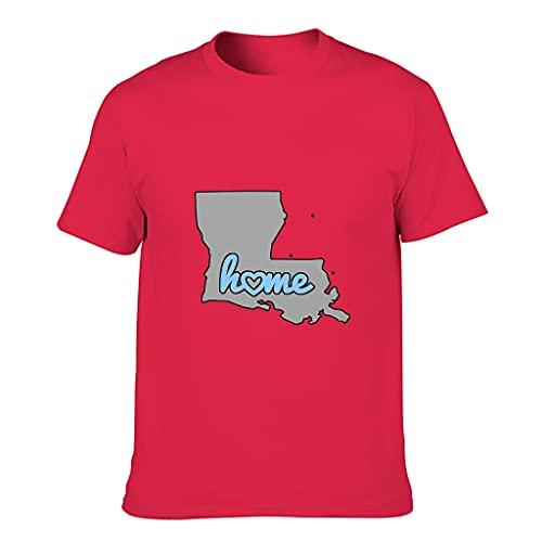 Herren T-Shirt Landkarte des Louisiana...