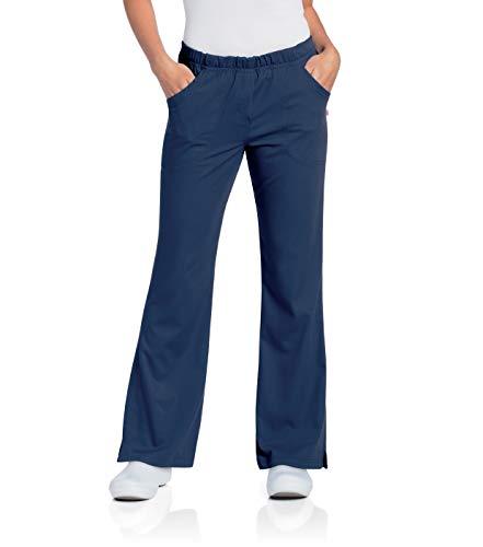Urbane Women's Plus Ultimate Soft Stretch Elastic Waist Flare Leg Scrub Pant, Navy, XXX-Large Petite