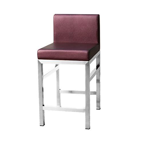 Barhocker Hausbar 42 * 42 * 82cm Rezeption Stuhl Rückenlehne Stuhl Hausbar Stuhl Hocker Empfang Stuhl (Color : F)