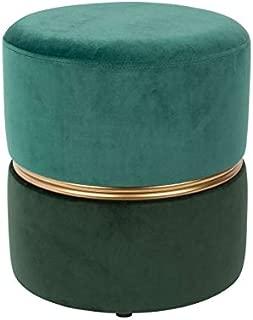 MATHI DESIGN Art Deco - Puf Decorativo, Color Turquesa y Verde