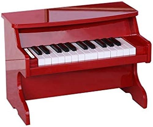 HXGL-Tastatur Kinder Klavier Holzspielzeug Geschenk Musik übung Tastatur 25 Key Boy Girl 3-4 Jahre Alt (Farbe   Rot)