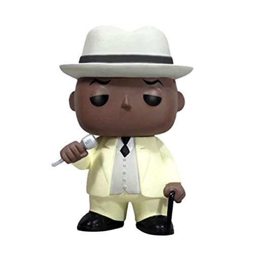 ZHUZEwei Pop The Notorious B.I.G.Traje de Christopher Wallace Color Blanco Mini Q Versión 3.9inches acción de la colección de PVC PVC Figura EP