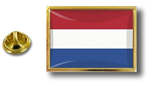 Akacha pin pin pin metaal met vlinderklem vlag Nederland Holland