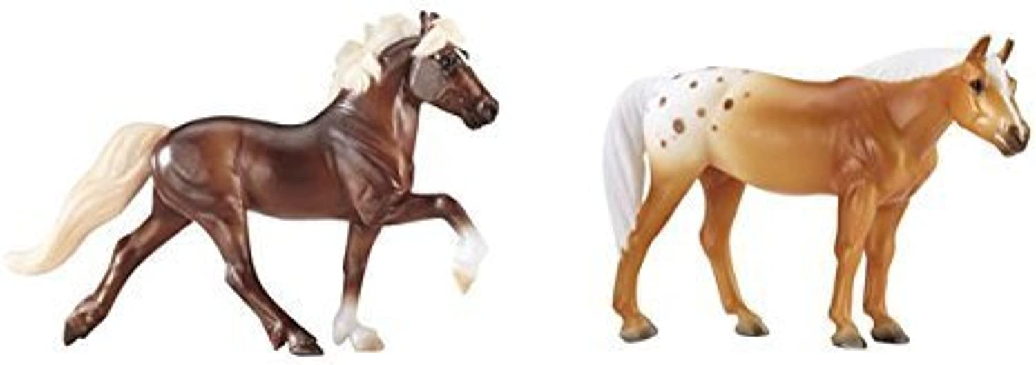 Breyer Stablemates Mystery Foal Surprise (Flaxen Chestnut Icelandic Horse and Palomino Blanket Appaloosa) by Breyer