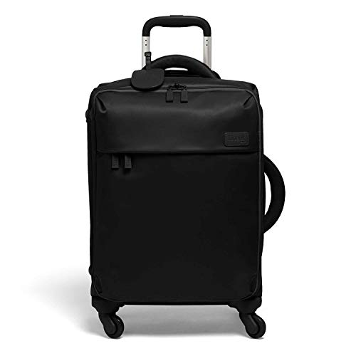 Lipault - Original Plume Spinner 55/20 Luggage - Carry-On Rolling Bag for Women - Black
