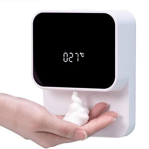 Dispensador de jabón Dispensador automático de desinfectante de Manos sin Contacto Dispensador de jabón en Espuma de 280 ml montado en la Pared sin Perforaciones