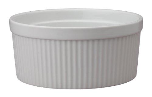 HIC Harold Import Co. Kitchen Souffle, Fine White Porcelain, 64-Ounce, 2-Quart