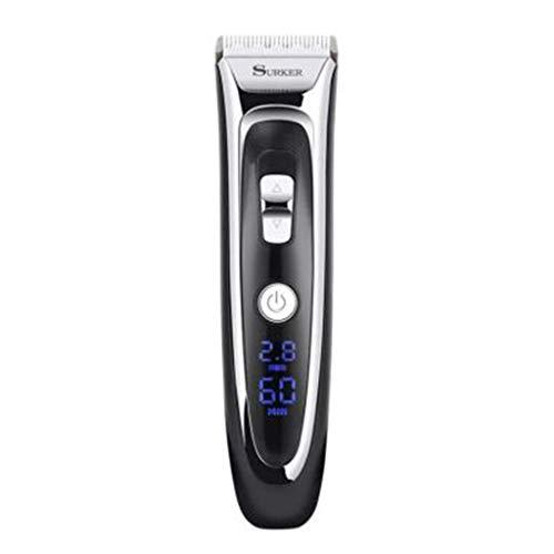 Professionele digitale haartrimmer oplaadbare elektrische haarschaar-mannen Cordless Haircut verstelbare keramische mes.