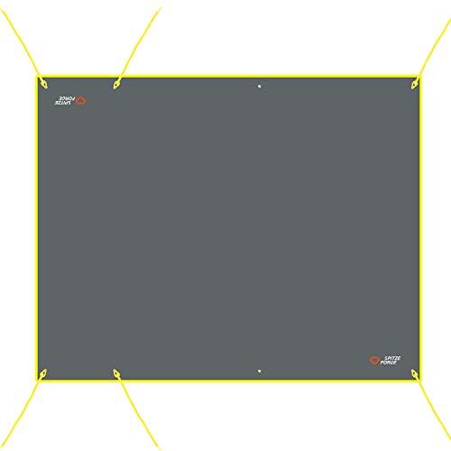 グランドシート テントシート レジャーシート 防水 軽量420D コンパクト 四角 フロア マット タープ ワンポールテント用 アウトドア キャンプ 四角グレー 3サイズ可選 XS 190x190cm/S 210*120cm/M 210*150cm/L 210*180cm/XL 220*280cm