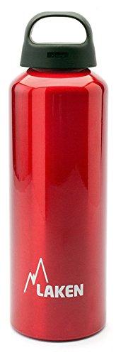 Laken Classic Botella de Agua Cantimplora de Aluminio con Tapón de Rosca y Boca Ancha, 0,75L Rojo
