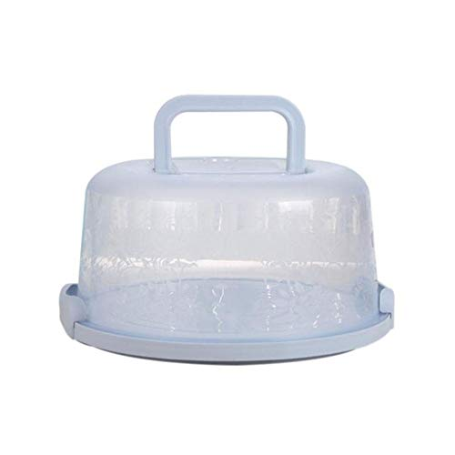 BULZEU Kuchenbehälter rund mit Haube Fresh Kuchenbehälter Fresh Tortenglocke Kuchenform Kuchenbox BPA-freier Kunststoff Kuchentransportbox (Blau)