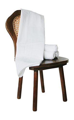 Flour Sack Kitchen Dish Towels 100% Pure Cotton Durable 28X28 Bleached Low Lint Fast Drying Commercial Grade (4)