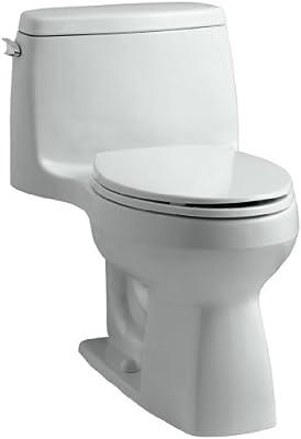 KOHLER 3811-95 Santa Rosa Comfort Height Elongated 1.6 GPF Toilet with AquaPiston Flush Technology and Left-Hand Trip Lever, Ice Grey
