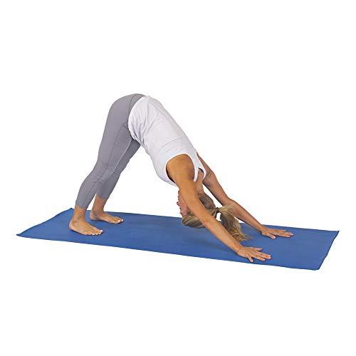 Sunny Health & Fitness Non-Slip Yoga Mat - Size 68 in x 24 in (Blue)