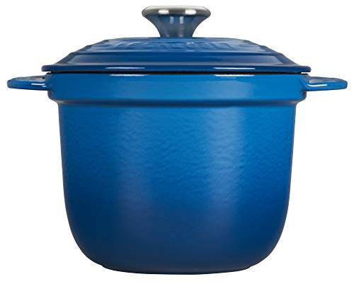 LE CREUSET LS4101S-1859SS Rice Pot with SS Knob & Stoneware Insert, gusseisen, Marseille