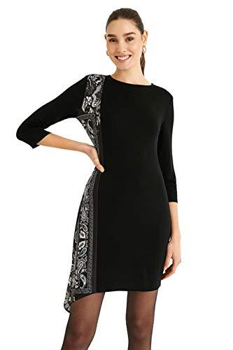 Desigual Vest_LOS Angeles Vestido Casual, Negro, L para Mujer