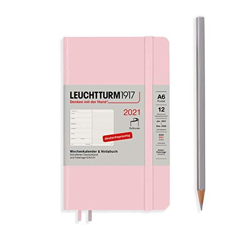 LEUCHTTURM1917 Wochenkalender & Notizbuch 2021 Softcover Pocket (A6), 12 Monate, Puder, Deutsch