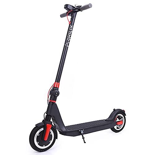 YISHENG Scooter Eléctrico Plegable, Transmisión Automática De 35 Velocidades, Anti-patín Fuerte, Neumáticos...