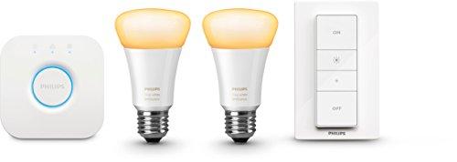 Philips Hue White Ambiance LED Lampe E27 Starter Set inkl. Dimmschalter und Bridge, alle Weißschattierungen, steuerbar via App, Standard Verpackung [Energieklasse A+] - 2