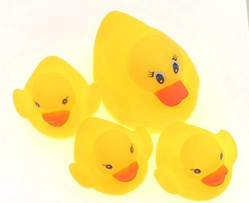 Toy Juego de baño de Patos de Goma, Contiene 4 Patos de Goma.