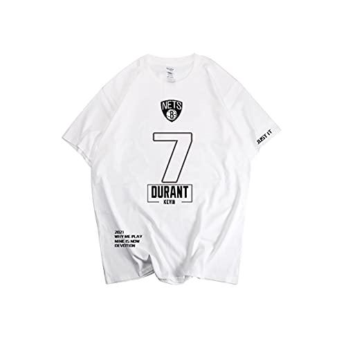Wanjun Camiseta De Baloncesto Kevin Durant, New Jersey Nets, Traje De Entrenamiento De Baloncesto, Camiseta para Hombre, Adecuada para Primavera, Verano, Otoño E Invierno,C-M