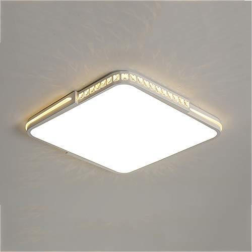 LED Plafón Moderno Regulable Lámpara de techo Cristal Luz de techo Interruptor...