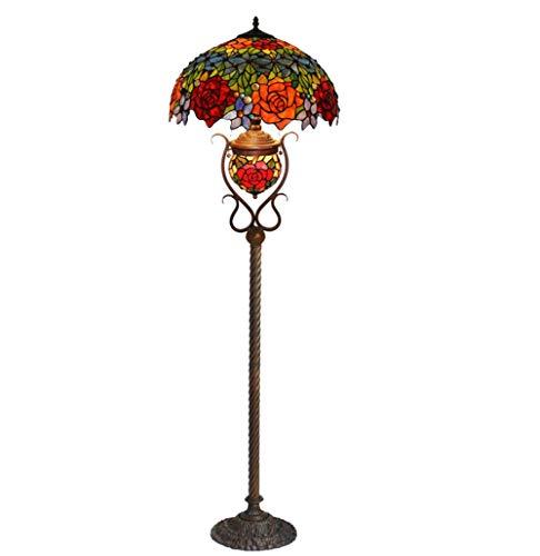 XinQing Linterna de la lámpara, lámpara de Cristal de la Sala de Estar de la decoración del Arte Coloreada Rose Doble.