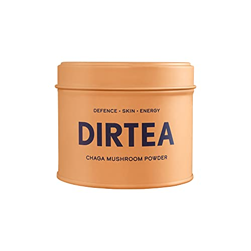 DIRTEA Chaga Mushroom Powder - 30 Servings Organic Powder - For Defence, Improved Skin & Energy - Suitable for Tea, Coffee and Smoothies