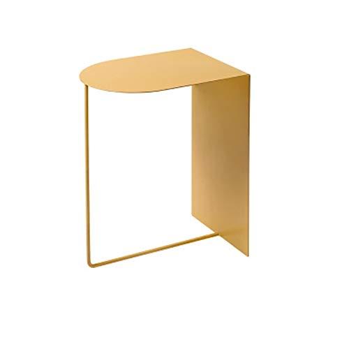 XLEVE Moda Mesa Lateral Mesa Lateral nórdico Estilo Inicio Sofá Tabla Pequeño Lateral Simple Mesilla (Color : Yellow)