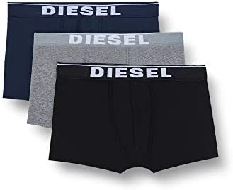 Diesel UMBX-DAMIENTHREEPACK, Calzoncillo para Hombre, Multicolor (Dark Grey Melange/Black/Bright White E4125/0jkkb), L, Pack de 3
