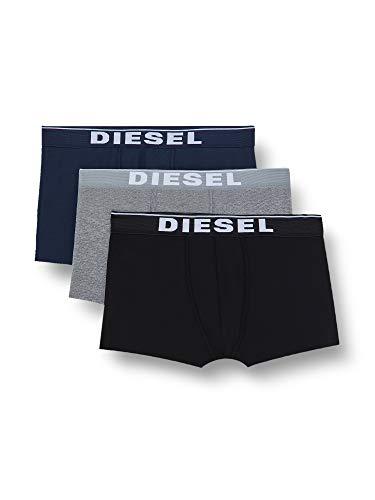 Diesel UMBX-DAMIENTHREEPACK, Slip Uomo, Multicolore (Dark Grey Melange/Black/Bright White E4125-0Jkkb), XXL, Pacco da 3